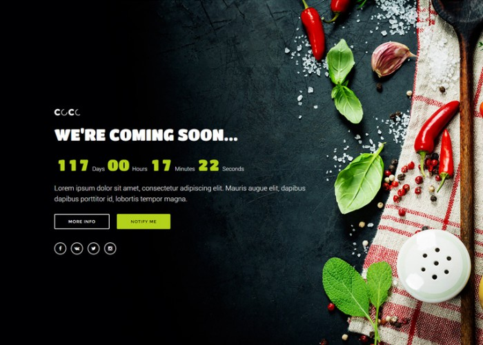 CoCo – Premium Responsive HTML5 Multipurpose Coming Soon Template