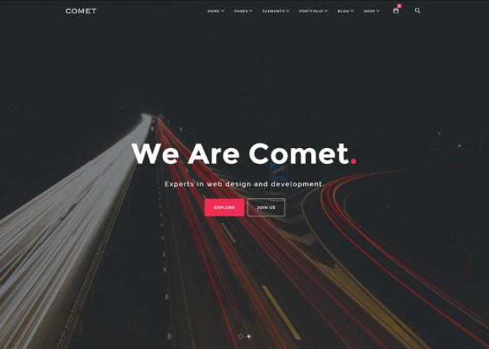 Comet – Premium Responsive Creative Multi-Purpose HTML5 Template