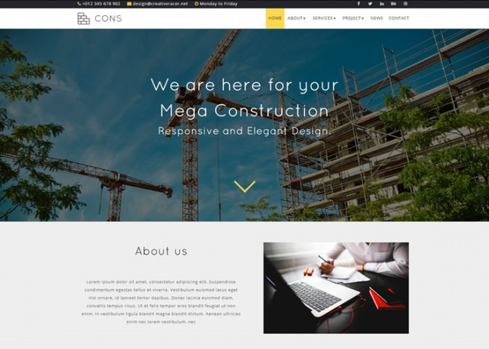 Cons – Premium Responsive Construction & Architecture Muse Template