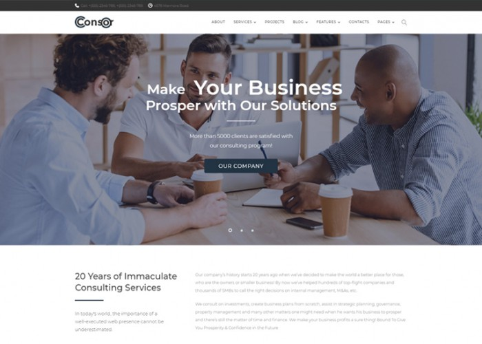 Consor – Premium Responsive Business Consulting WordPress Theme