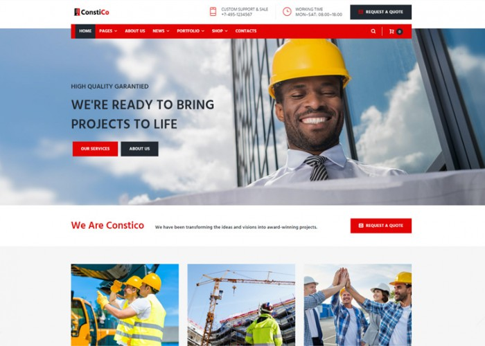 Constico – Premium Responsive Construction WordPress Theme