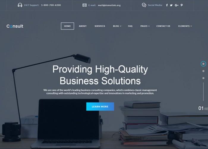 Consult – Premium Responsive Corporate HTML5 Template
