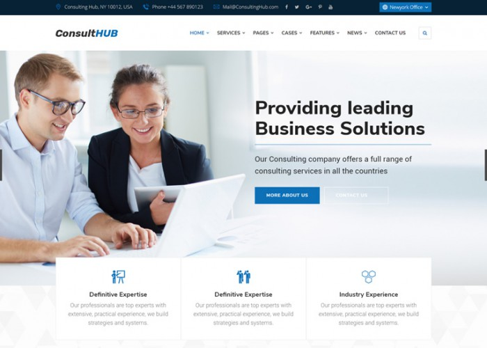 Consult HUB – Premium Responsive Business Consulting HTML5 Template