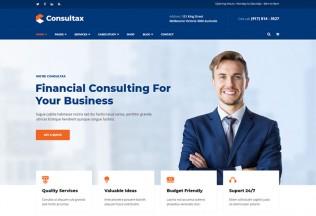 Consultax – Premium Responsive Financial Consulting WordPress Theme