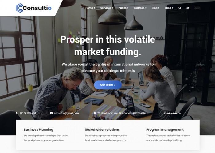 Consultio – Premium Responsive Consulting WordPress Theme