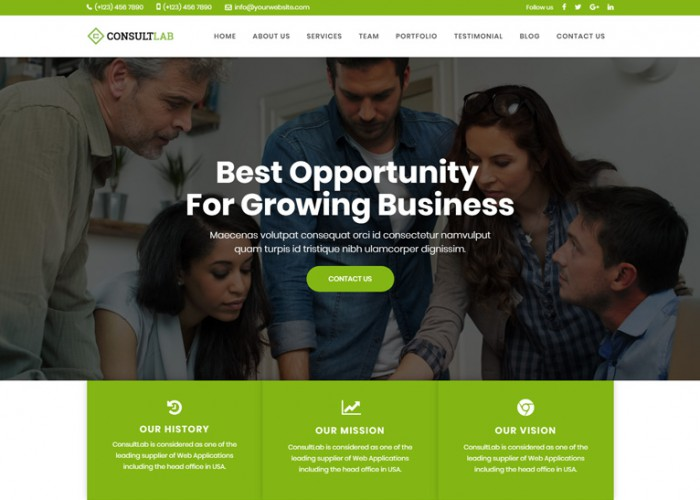 ConsultLab – Premium Responsive Business & Corporate Joomla Template