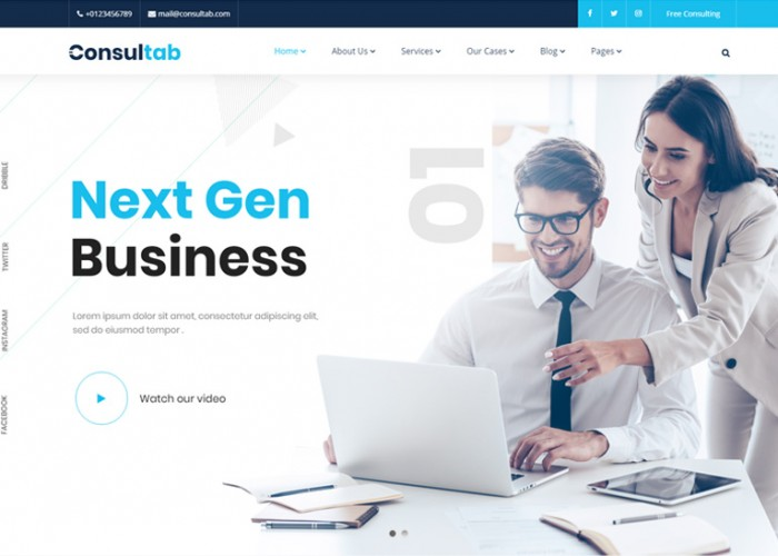 Consultab – Premium Responsive Consulting Business WordPress Theme