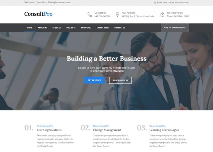 ConsultPro – Premium Responsive Business, Finance and Consultancy WordPress Theme