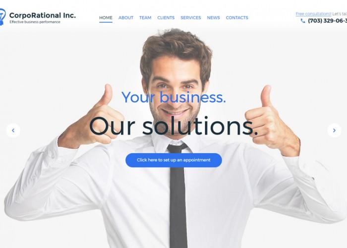 CorpoRational – Premium Responsive Business Consulting WordPress Theme