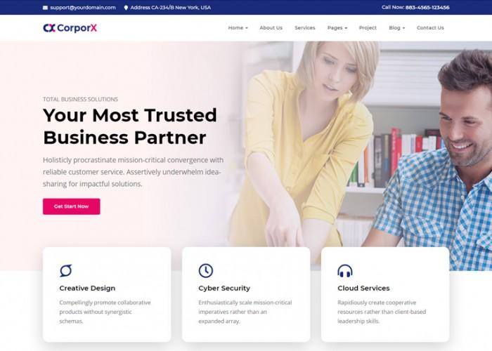 CorporX – Premium Responsive Corporate and Business HTML5 Template
