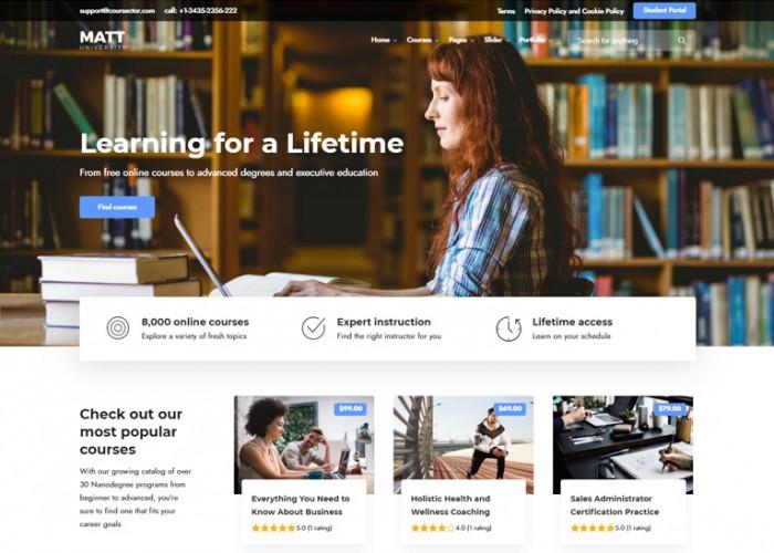 Coursector – Premium Responsive LMS Education WordPress Theme