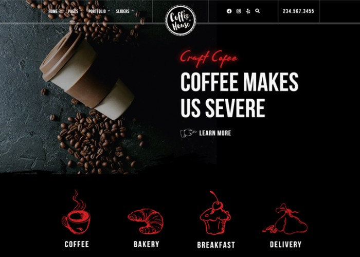 Craft – Premium Responsive Coffee Shop Restaurant WordPress Theme