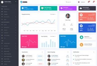 Crema – Premium Responsive Material React Admin HTML5 Template