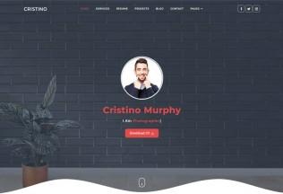 Cristino – Premium Responsive Personal Portfolio CV HTML5 Template