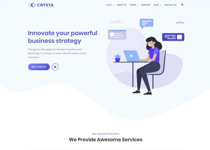 Crysta – Premium Responsive Startup Agency WordPress Theme