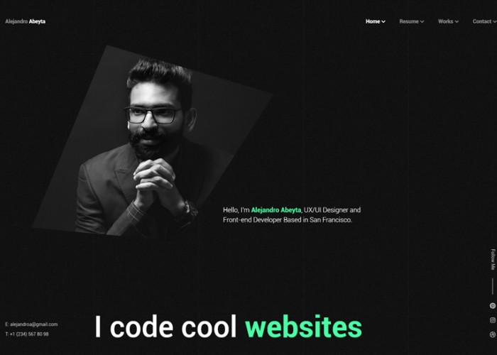 Cvio – Premium Responsive Resume/CV HTML5 Template