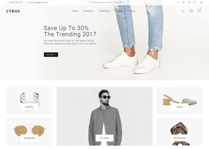 Cyrus – Premium Responsive Fashion Magento 2 Theme