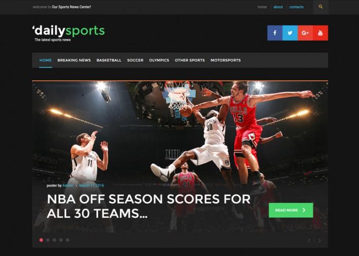 DailySports – Premium Responsive Sport Magazine WordPress Theme