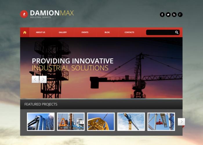 DamionMax – Premium Responsive Industrial WordPress Theme