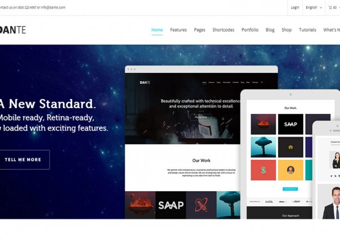 Dante – Premium Responsive MultiPurpose WordPress Theme