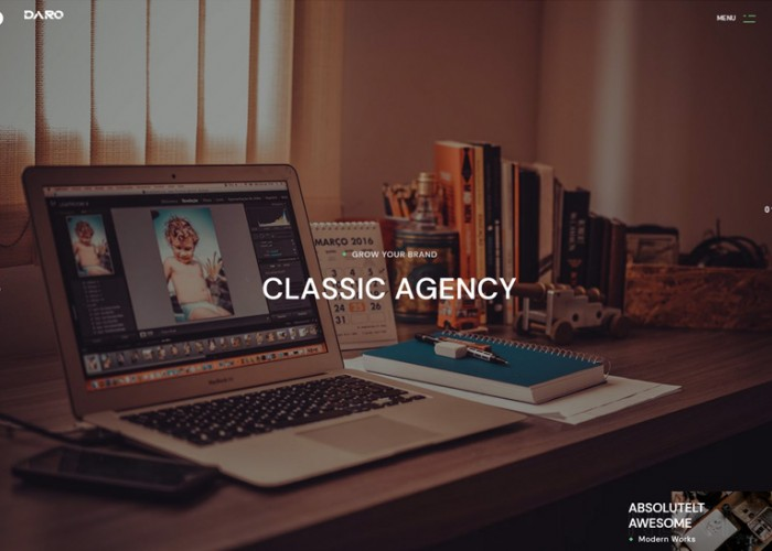 Daro – Premium Responsive Ajax Portfolio WordPress Theme