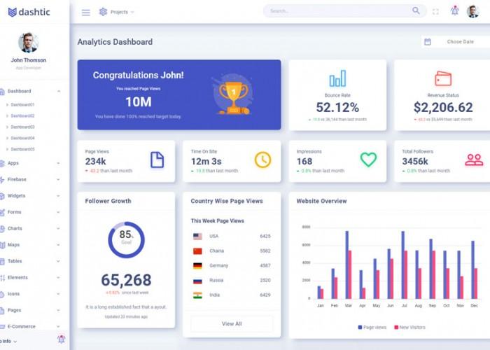 Dashtic – Premium Responsive Angular Admin Dashboard HTML5 Template