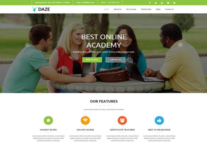 DAZE – Premium Ultimate Business Muse Template