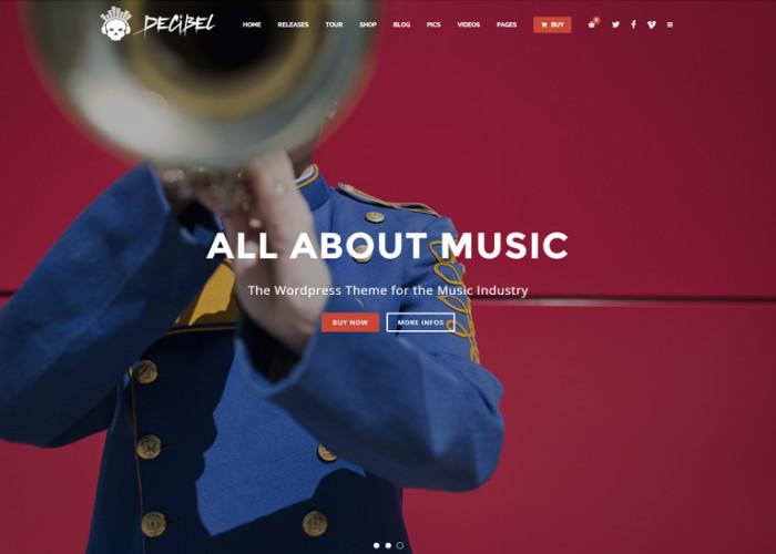 Decibel – Premium Responsive Professional Music WordPress Theme