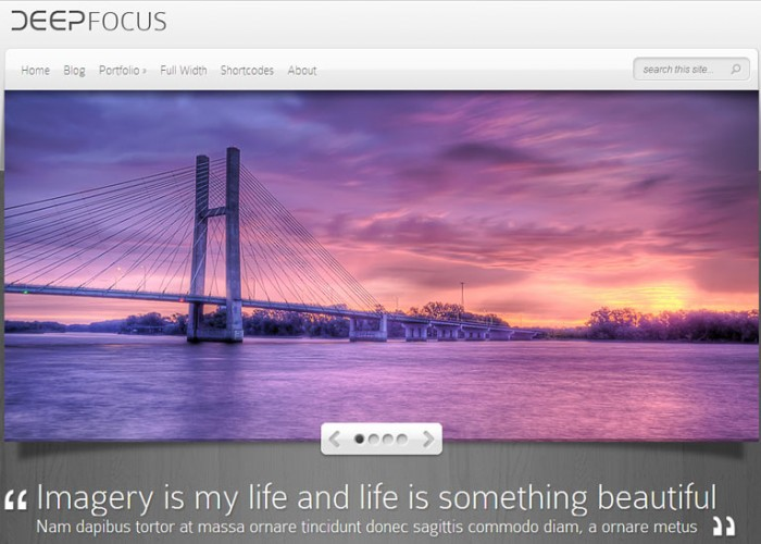DeepFocus – WordPress Premium Responsive Photography Theme