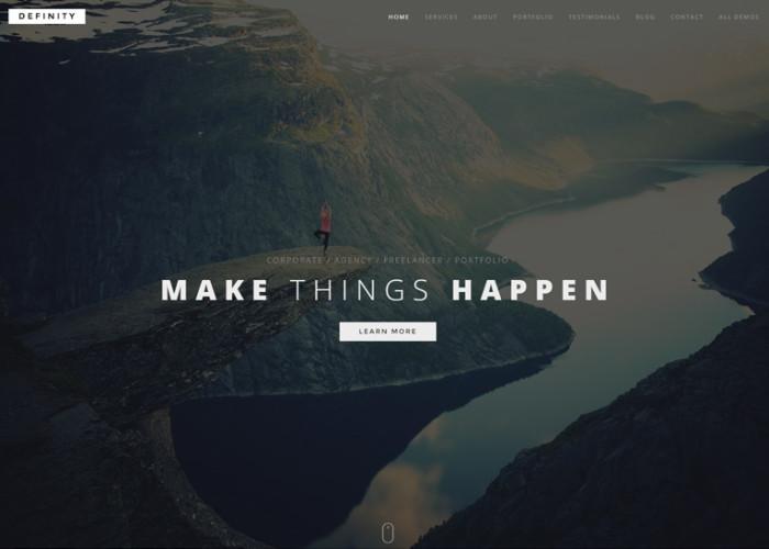 Definity – Premium Responsive Multipurpose One/Multi Page HTML5 Template