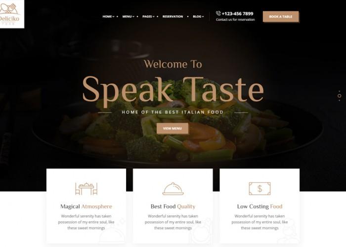 Deliciko – Premium Responsive Restaurant WordPress Theme