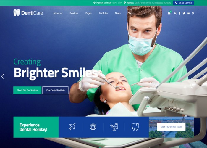 DentiCare – Premium Responsive Dental Clinic WordPress Theme