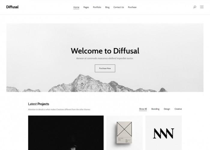 Diffusal – Premium Responsive Creative Portfolio HTML5 Template