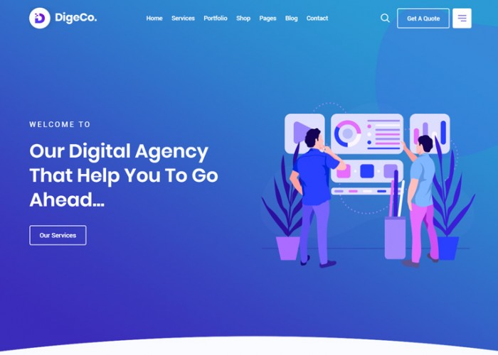 Digeco – Premium Responsive Startup Agency WordPress Theme