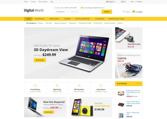 Digitalworld – Premium Responsive Digital Magento 2 Theme