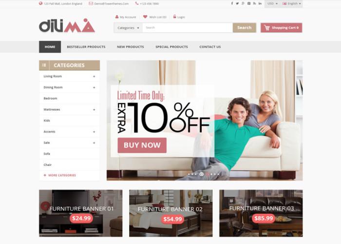 Dilima – Premium Responsive Mega Store OpenCart Theme