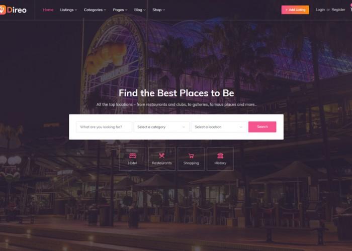 Direo – Premium Responsive Directory Listing WordPress Theme