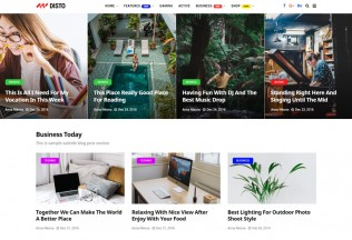 Disto – Premium Responsive Blog Magazine HTML5 Template