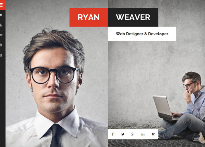 Divergent – Premium Responsive Personal Vcard Resume HTML5 Template