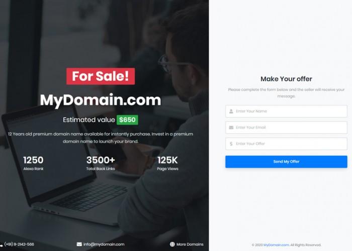 DomainX – Premium Responsive Domain Sale HTML5 Template