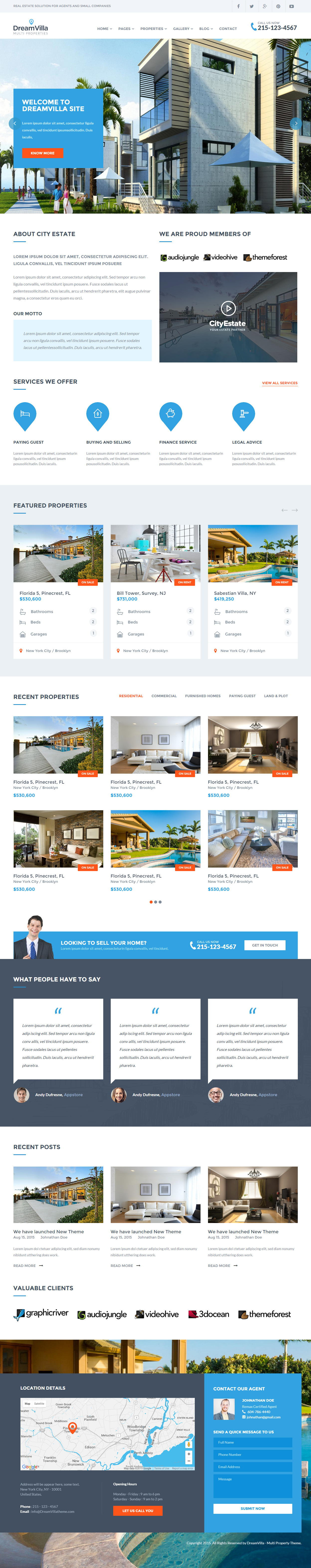 25+ Best Real Estate Website Templates 2017 - Responsive Miracle