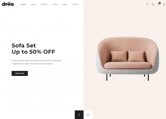 Drile – Premium Responsive Furniture WooCommerce WordPress Theme