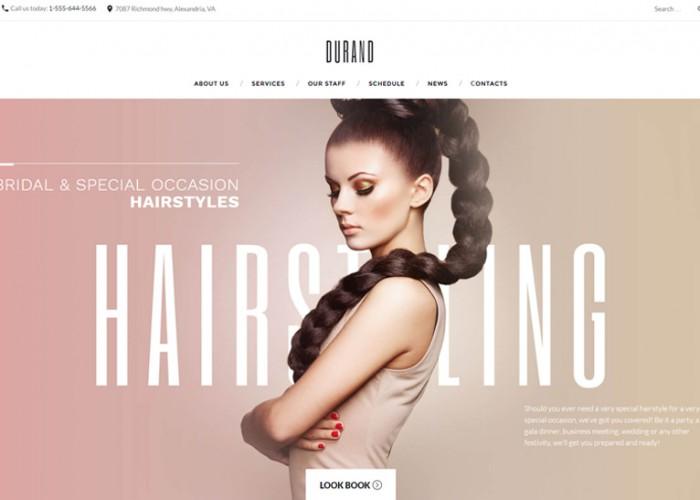 Durand – Premium Responsive Beauty & Hair Salon WordPress Theme