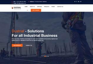 Dustrial – Premium Responsive Factory & Industrial WordPress Theme