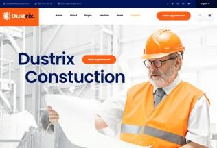 Dustrix – Premium Responsive Construction & Industry HTML5 Template