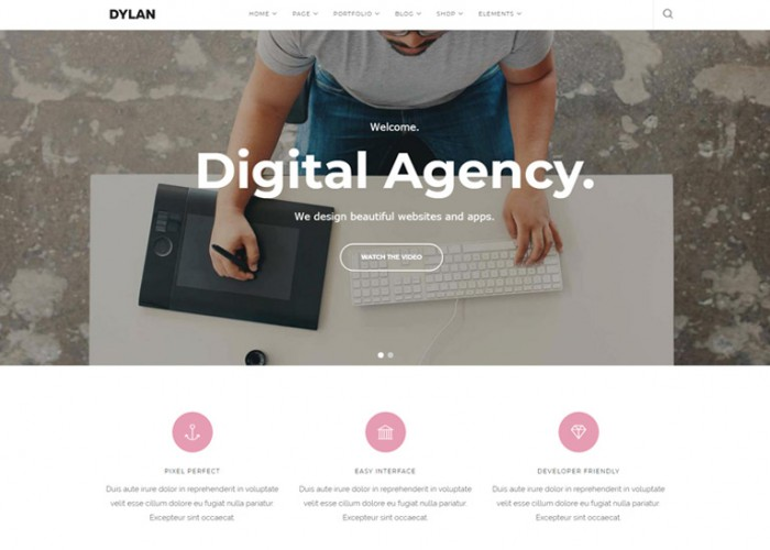 Dylan – Premium Responsive Responsive MultiPurpose Drupal 8 Theme