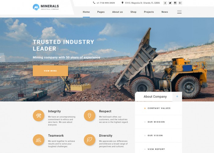 Dynamics – Premium Responsive Industrial HTML5 Template