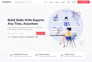 eCademy – Premium Responsive Education & LMS WordPress Theme