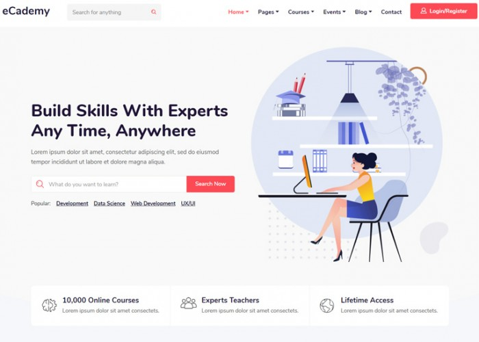 eCademy – Premium Responsive Education & LMS WordPress Theme