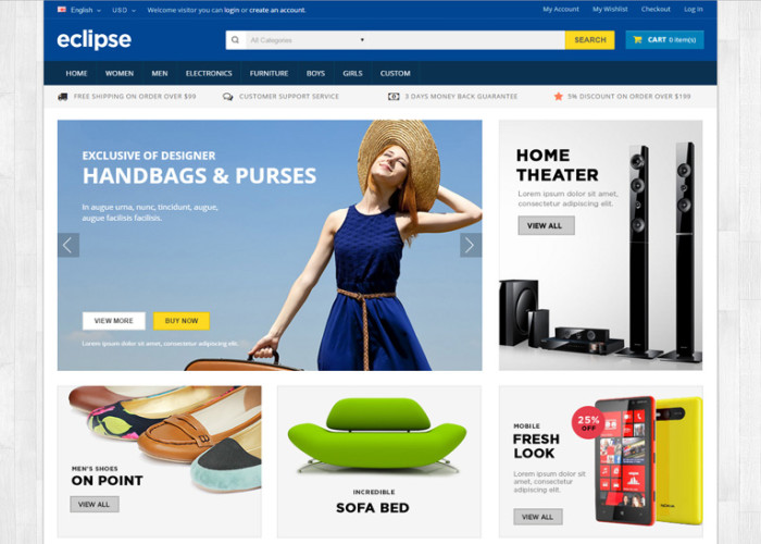 Eclipse – Premium Responsive Multipurpose OpenCart Theme